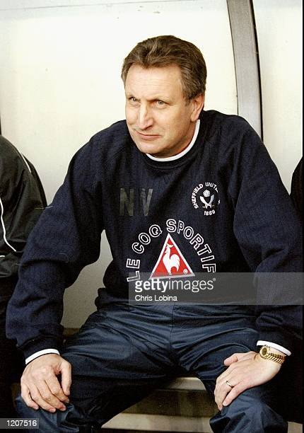 Sheffield United manager Neil Warnock in the dug out during the Nationwide League Division One match against Portsmouth at Bramall Lane in Sheffield,...