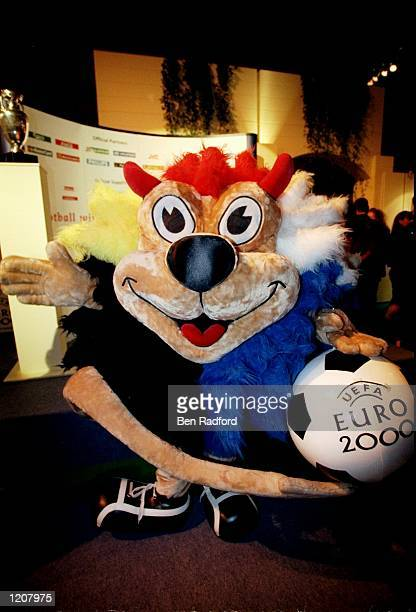 The Euro 2000 Championship Mascot Benelucky at the Euro 2000 draw in Brussels Mandatory Credit Ben Radford /Allsport