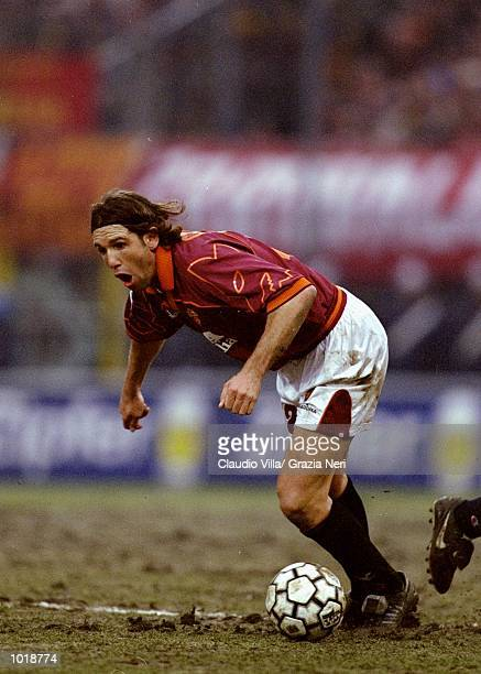 Vincent Candela of Roma in action during the Italian Serie A match against Parma played at the Stadio Tardini in Turin Italy Parma won the game 20...