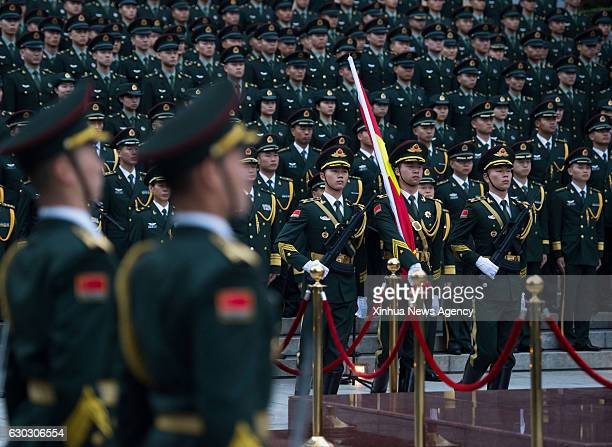 MACAO Dec 20 2016 The Macao garrison of the Chinese People's Liberation Army holds a national flagraising ceremony to celebrate the 17th anniversary...