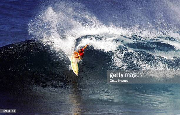 2000 Association of Surfing professionals world champion Layne Beachley of Australia clinched the Quiksilver Roxy Pro title at Sunset Beach on the...