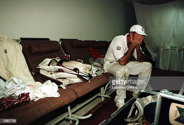 An emotionally drained Nasser Hussain reflects on an away series win in the dressing room during the 3rd Pakistan v England Test match at the...