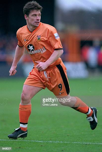 Barnet player/manager Tony Cottee in action during the Nationwide Division Three match against Brighton played at Underhill in London Brighton won...