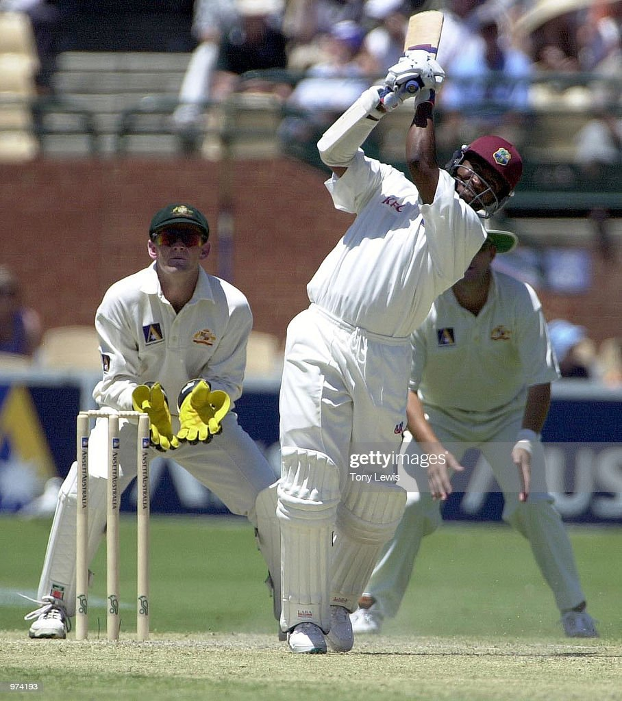 Brian Lara of West Indies in action during his innings of 182 against Australia during the second days play of the Third Test match at the Adelaide Oval in Adelaide, Australia.x Digital Image Mandatory Credit: Tony Lewis/ALLSPORT