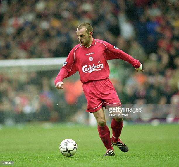 Danny Murphy of Liverpool in action during the FA Carling Premiership match against Arsenal played at Anfield in Liverpool England Liverpool won the...