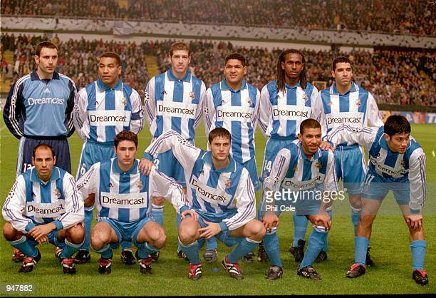Deportivo La Coruna team line-up before the UEFA Champions League Group B match against AC Milan played at the Estadio Riazor, in Coruna, Spain. AC...