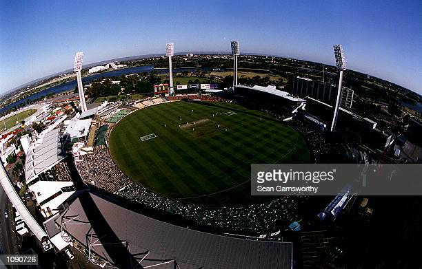 General View of the Western Australian Cricket Ground during the second days play of the Second Test match between Australia and West Indies at the...