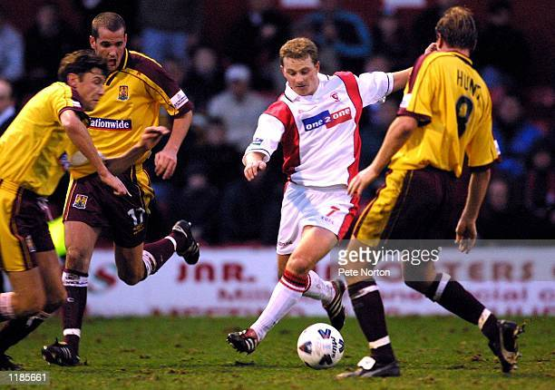 Mark Robins of Rotherham United in action during the AXA sponsored FA Cup 2nd round match against Northampton Town played at Millmoor in Rotherham...