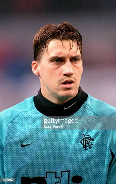 Portrait of Stefan Klos of Rangers before the UEFA Cup 3rd round 2nd leg match against Kaiserslautern played at the Fritz Walter Stadion in...