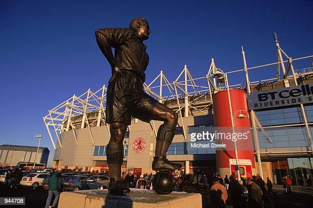 Statue of George Hardwick outside the Riverside Stadium before the FA Carling Premiership match between Middlesbrough and Coventry City played at the...