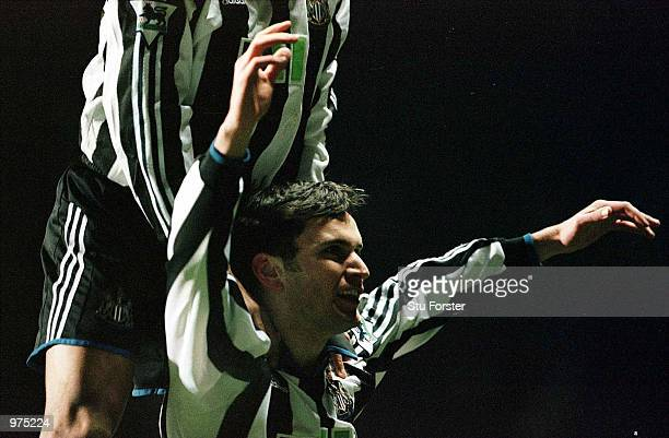 Stephen Glass of Newcastle celebrates after scoring the equalising goal during the Newcastle United v Manchester United FA Carling Premiership match...