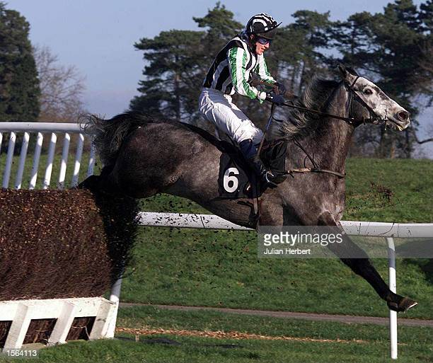Tony McCoy and Gun''N Roses clear the last fence at Chepstow to land The Stereophonics Play Here Steeple Chase Mandatory Credit Julian...