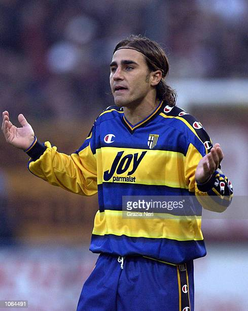 A dejected Fabio Cannavaro of Parma during the Serie A 14th Round League match between Parma and Roma played at the Ennio Tardini Stadium in Parma...