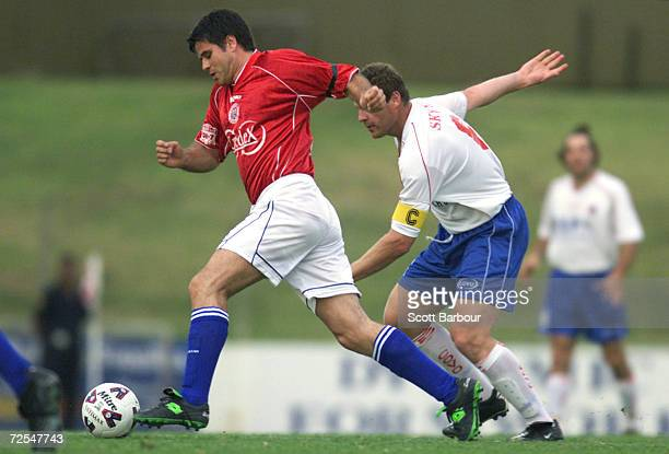 Aljosa Asanovic of Sydney United in action during the round 9 NSL match between Sydney United and Melbourne Knights held at the Sydney United Sports...