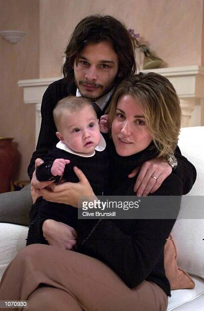 Blackburn Rovers player Corrado Grabbi relaxes at home with his wife Elisa and son Edorardo DIGITAL IMAGE Mandatory Credit Clive Brunskill/Getty...