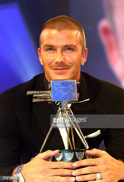 David Beckham with the BBC Sport Personality for the Year Award at the BBC Television Centre, London. DIGITAL IMAGE. Mandatory Credit: Warren...