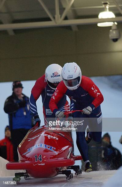 Driver Mike Dionne and brakeman Pavle Jovanovic compete in the Verizon Championship Series at Utah Olympic Park in Park City Utah DIGITAL IMAGE...