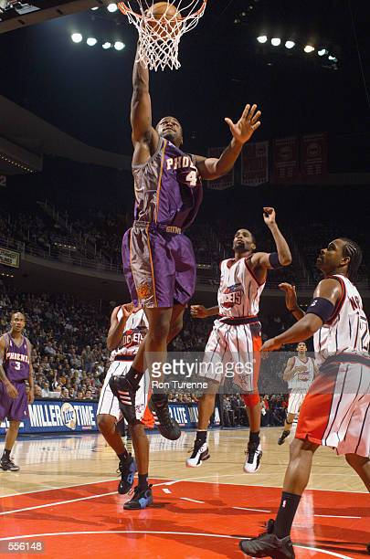 Forward Alton Ford of the Phoenix Suns shoots the ball during the NBA game against the Houston Rockets at the Compaq Center in Houston Texas The Suns...