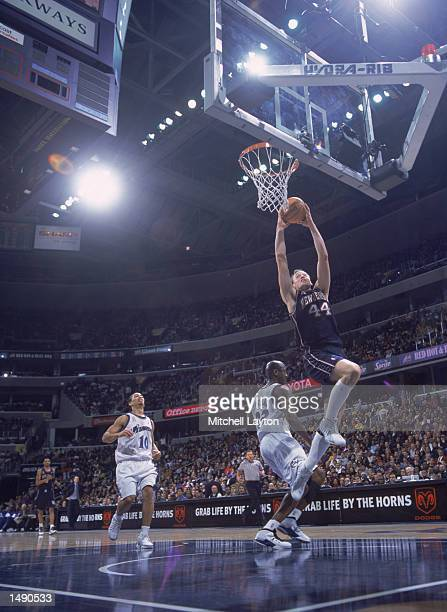 Forward Keith Van Horn of the New Jersey Nets soars to the basket during the NBA game at the MCI Center in Washington DC Wizards defeated the Nets...