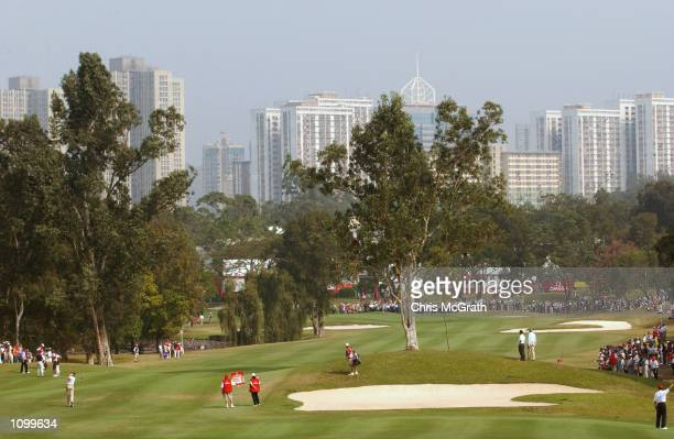General view of hole 3 during the final round of the Omega Hong Kong Open Golf Tournament held at the Hong Kong Golf Club, in Fanling, Hong Kong....