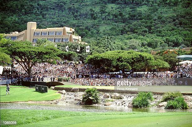 General view of the 9th Green at the Nedbank Golf Challenge held at the Gary Player Country Club in Sun City South Africa Mandatory Credit Ross...