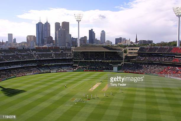 General view of the MCG loking towards the members stand during the Boxing Day Test match between Australia and South Africa at the Melbourne Cricket...