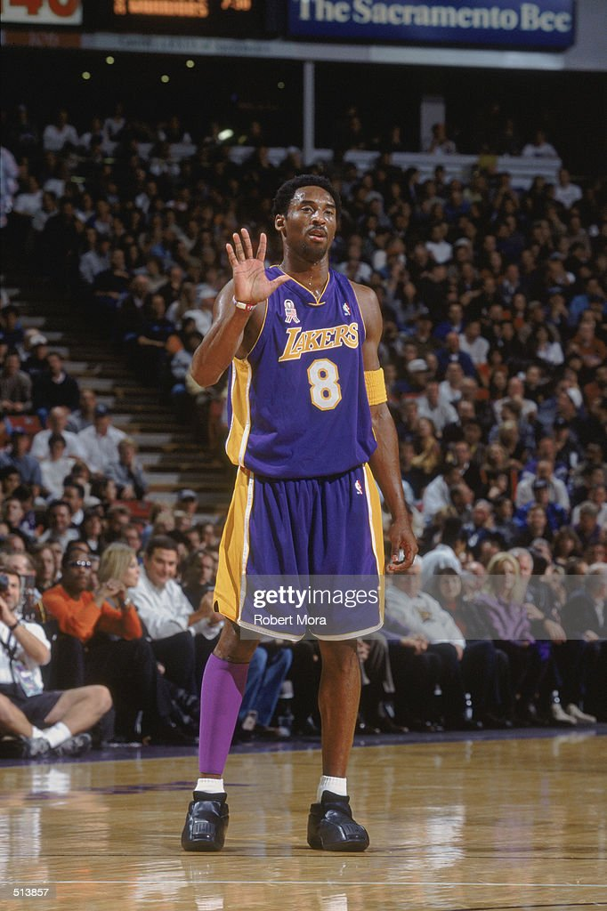 Kobe bryant holds up five fingers pictures getty images guard kobe bryant 8 of the los angeles lakers holds up five fingers during the voltagebd Images