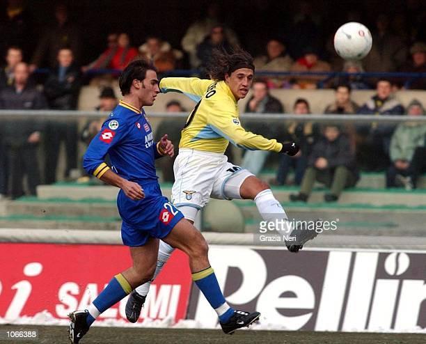 Hernan Crespo of Lazio in action during the Serie A match between Verona and Lazio played at the Bentegodi Stadium Verona DIGITAL IMAGE Mandatory...