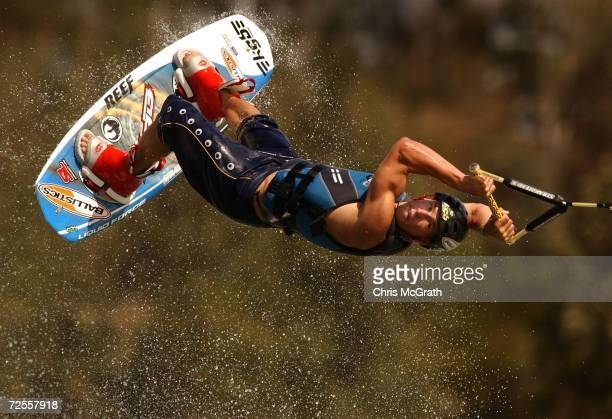 Jeff Weatherall of New Zealand in action during Heat 4 of the Planet X Summer Games Men's Wakeboarding Trials held at the Sydney International...