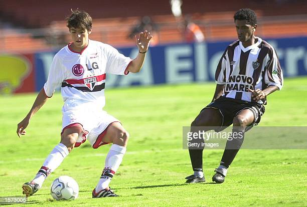 Kaka of Sao Paulo in action during the Brazilian National Championship match between Sao Paulo and Athletico Minero played at Morumbi's Stadium Sao...