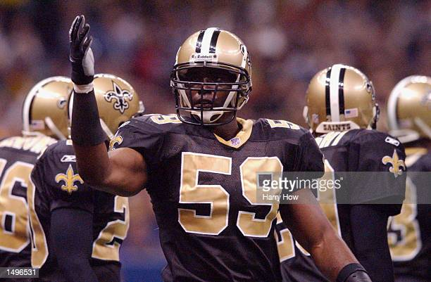Keith Mitchell of the New Orleans Saints during the game against the Washington Redskins at the Superdome in New Orleans Louisiana The Redskins won...