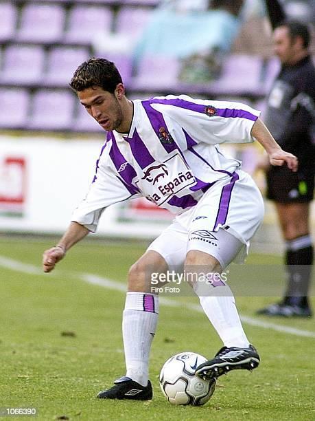 Luis Garcia of Valladolid in action during the Primera Liga match between Valladolid and Tenerife played at the Jose Zorrilla Stadium Valladolid...