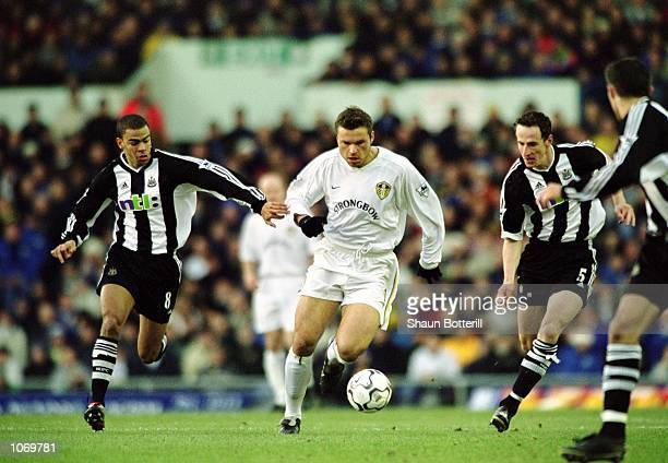 Mark Viduka of Leeds United makes a burst forward during the FA Barclaycard Premiership match against Newcastle United played at Elland Road in Leeds...
