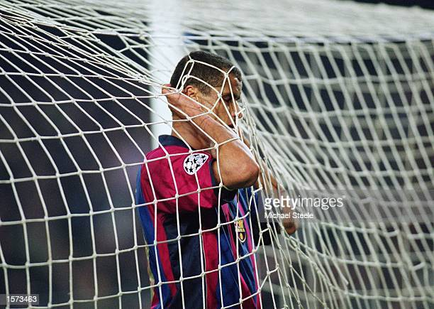 Rivaldo of Barcelona during the UEFA Champions League Second Phase Group B match between Barcelona and Galatasaray at the Nou Camp in Barcelona Spain...