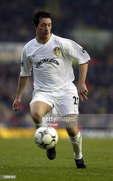 Robbie Fowler of Leeds in action during the Leeds United v Leicester City FA Barclaycard Premiership match at Elland Road Leeds DIGITAL IMAGE...