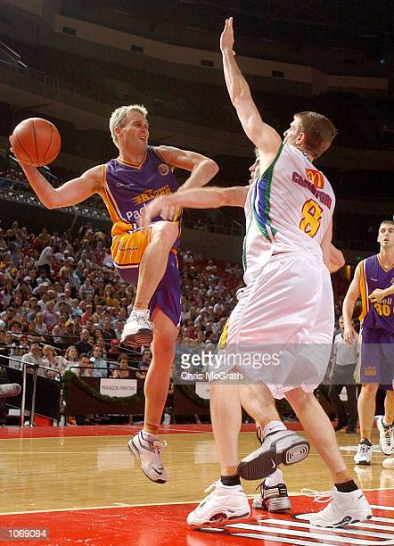Shane Heal of the Kings in action during the NBL match between the Sydney Kings and the Townsville Crocodiles held at the Sydney Superdome Sydney...