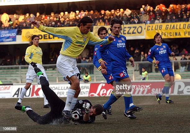 Simone Inzaghi of Lazio in action during the Serie A match between Verona and Lazio played at the Bentegodi Stadium Verona DIGITAL IMAGE Mandatory...