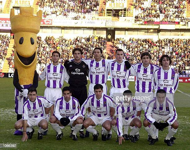 The Valladolid team line up before the Primera Liga match between Valladolid and Tenerife played at the Jose Zorrilla Stadium Valladolid DIGITAL...