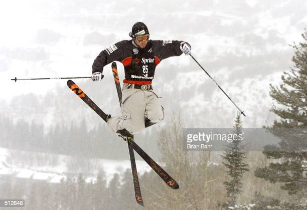 Toby Dawson jumps off the first jump during mens'' dual moguls at the Sprint US Freestyle Grand National World Cup in Steamboat Colorado Dawson took...
