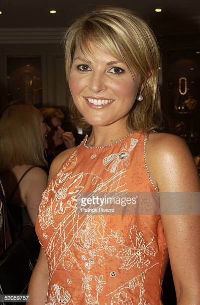 11 Dec 2003 TV presenter Georgie Gardner attends the Jan Logan 2004 new Jewellery collection launch at her Double Bay shop in Sydney Australia