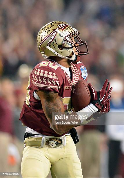06 Dec 2014 Florida State Seminoles wide receiver Rashad Greene catches a touchdown pass in the second half of the ACC Championship Game between...