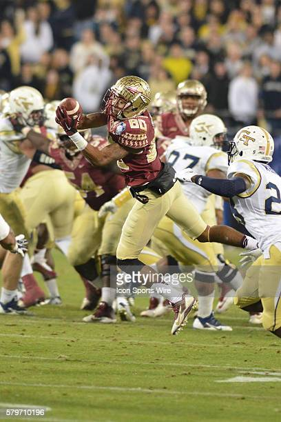 06 Dec 2014 Florida State Seminoles wide receiver Rashad Greene makes a catch during the ACC Championship Game between Florida State and Georgia Tech...