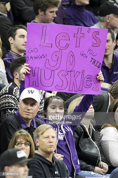 Washington fans showed there support through out the game against Seattle University Washington defeated Seattle University 7983 at Alaska Airlines...
