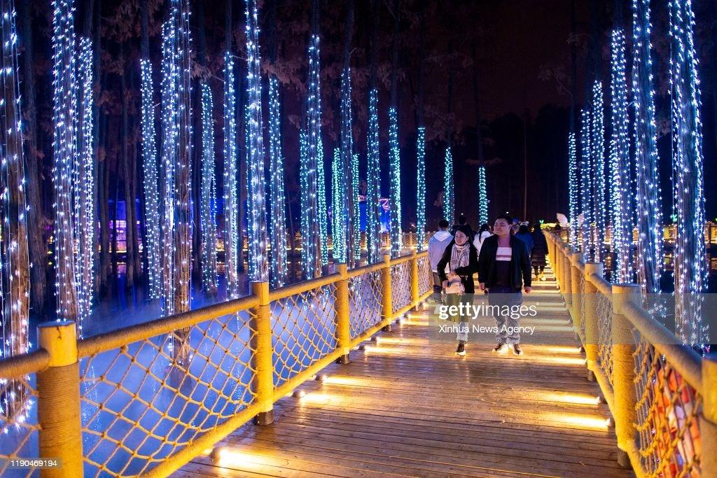 CHINA-HUBEI-WUHAN-LIGHT FESTIVAL (CN) : News Photo