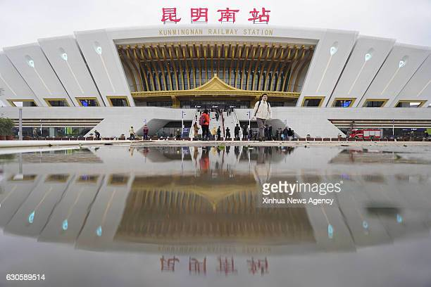 KUNMING Dec 27 2016 Photo taken on Dec 27 2016 shows the Kunmingnan Railway Station in Kunming capital of southwest China's Yunnan Province The...