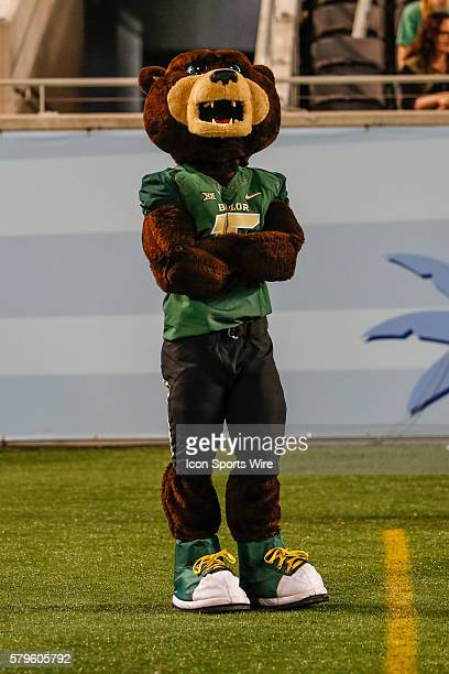 Baylor Bears mascot Bruiser watches the game during the Russell Athletic Bowl game between the North Carolina Tar Heels and the Baylor Bears at the...