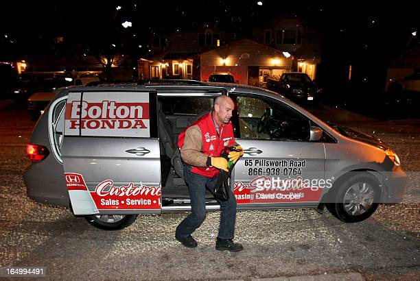 Dec 3 2010 First timers Philip Robinson jumps out of the shuttle van at the pickup address on his first runVolunteers drive home holiday revelers as...