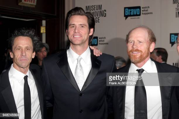 Dec 4 2005 Brian Grazer Jim Carrey and Ron Howard at the Museum of The Moving Image Salute To Ron Howard credit Frank Albertson