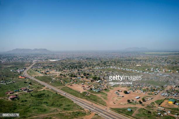 Dec 5 2014 Aerial view of Juba capital city of SouthSudan The ongoing civil war between SPLAJuba the army loyal to President Salva Kiir and SPLAIO...