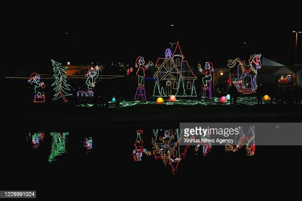 Dec. 5, 2020 -- Photo taken on Dec. 5, 2020 shows lighting installations at a Christmas lighting show at Lafreniere Park in Metairie, Louisiana, the...